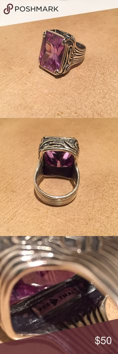 JUST IN 925 & Amethyst Silpada Ring This is a gorgeous statement ring! Sterling silver handcrafted with every detail etched in the silver. The amethyst used in this stone is breath taking! The piece is stunning & is a must for the jewelry box! ✨ No trades, feel free to ask questions, please use the offer button if you would like to make one, & all sales are final. Thank you!  Silpada Jewelry Rings