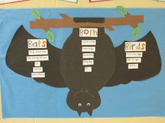 Bats/Birds Venn Diagram...goes well with Stellaluna or The Great Ballgame - like this so much more than the typical stupid venn diagram that our kids can't actually use!