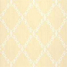 Thibaut Gatehouse - London Trellis - Wallpaper - Straw