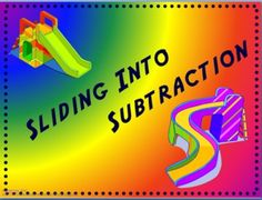 Sliding Into Subtraction - Electronic Flashcards  This set of 'electronic' flashcards has 245 PowerPoint slides. It covers the basic subtraction facts. The problem is displayed on the screen and with the click of the mouse (or space bar) the answer will appear.   This is an excellent activity that can be used individually on a computer or as a class with a projector. Students love to race each other when playing games such as Around the World.