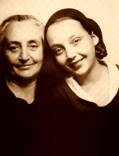 Marguerite Duras and her mother.  Duras was known for as a  wiriter and film director.