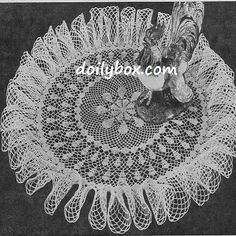 Free Crochet Patterns Ruffle Centerpiece Doily Pattern