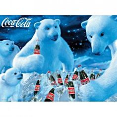 Buffalo Games Coca-Cola: Polar Bears - Jigsaw Puzzle by Puzzle - with difficult people deal Coca Cola Poster, Coca Cola Santa, Coca Cola Christmas, Coca Cola Polar Bear, White Christmas, Christmas Time, Christmas Cards, Vintage Coca Cola, Vintage Ads