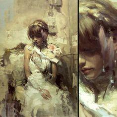 """Portrait of Jillian"" 24 x 36 inches Oil on Panel"