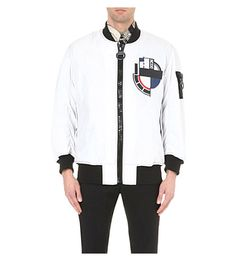 KTZ Abstract-Print Shell Bomber Jacket. #ktz #cloth #coats & jackets