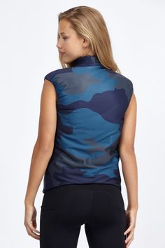 Vector Silk Camo Tech Print Vest by Bandier  @bandiernyc