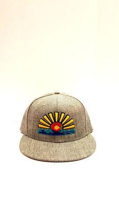 Colorado Rising Sun Flag Snapback Hat. Colorado Design Hats. Colorado Theme Hats #Unameit #BaseballCap