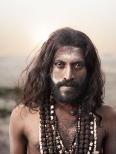 Holy Men of Varanasi, India -- Portrait of Magesh Nalla Magesh, left a well paid job as an IT computer consultant to pursue to path of a sadhu. After years of practice, he finds no temptation to return to his old life.