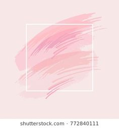 Similar Images, Stock Photos & Vectors of Pastel colors brush strokes and gold contour arrow. Art Graf, Modern Floral Wallpaper, Frame Wall Decor, Wall Art, Pink Iphone, Logo Background, Instagram Highlight Icons, Texture Painting, Brush Strokes