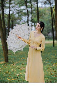 6ea179ee69 LYNETTE CHINOISERIE Wiosna Jesień Oryginalny Design Kobiet Francuski  Elegancki Vintage Kwiatowy Print Szczupła Wysoka Talia Suknie