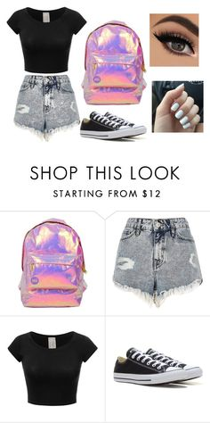 """Untitled #74"" by marija-jozic on Polyvore featuring Miss Selfridge, River Island and Converse"