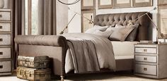 Chesterfield Panel Bed | Restoration Hardware
