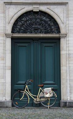 Gorgeous Dark Teal Blue Door