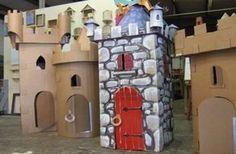 Castillos con Cajas de Cartón | Manualidades Infantiles