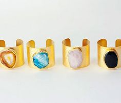Gemstone Cuffs Can't help but see these and think of Galaxia in Sailor Moon Stars...