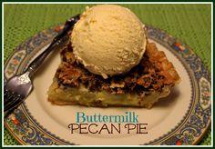 Sweet Tea and Cornbread: Buttermilk Pecan Pie!