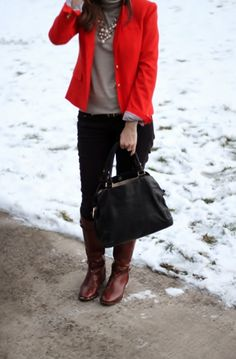 Lilly's Style: red blazer