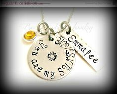 ON SALE Hand Stamped You are my Sunshine necklace - Personalized jewelry
