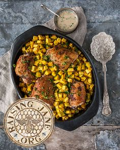Roasted Chicken & Buttercup Squash w/Herbed Honey Mustard: Prep Time: 1 Hour Cook Time: 1 Hour Makes: 4 Servings