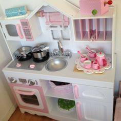 Modern Country Kitchen #playkitchen #kidkraftkitchen #toykitchen #kidkraft