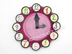 Paper Plate Clock - Click on image to see step-by-step tutorial.