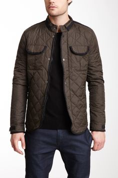 American Stitch Quilted Elbow Patch Jacket on HauteLook