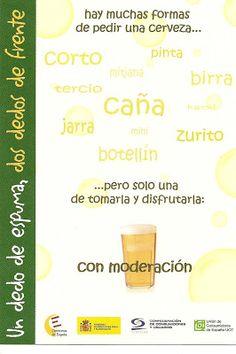 .Distintas formas de pedir cerveza en los bares.