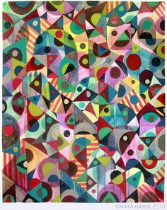 'Inspired by Delaunay' Maya Hayuk - Passengers 2009 - 2011