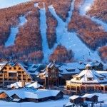 The Northeast is picky about its luxury hotels, and the Stowe Mountain Lodge, at the base of one of Vermont's most famous ski resorts, delivers. Winter Weekend Getaways, Best Winter Vacations, Family Vacations, Dream Vacations, The Places Youll Go, Places To Go, Stowe Vermont, Vermont Skiing, Vermont Winter