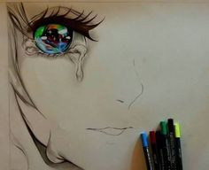 Image about art in Anime and manga by Manga Eyes, Anime Manga, Anime Art, Stick Figures, Copic, Girly Things, Cartoon Characters, Amazing Art, Watercolor Tattoo
