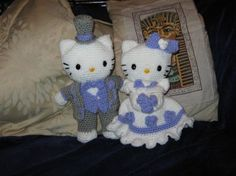 Hello Kitty Victorian Wedding In response to numerous requests here's my Hello Kitty bride and groom pattern.