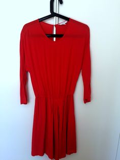&Other Stories, red dress, S, 100 PLN