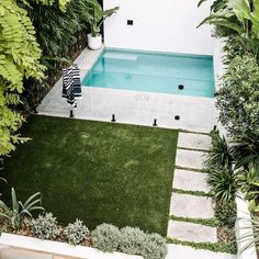 Blossom where you stand grown. The water relaxes my unsettled soul. Small Backyard Pools, Backyard Pool Designs, Small Pools, Swimming Pools Backyard, Outdoor Pool, Backyard Landscaping, Outdoor Gardens, Landscaping Ideas, Outdoor Spaces