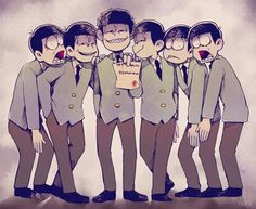 ichimatsu, osomatsu-san, and osomatsu image Dark Anime Guys, All Anime, Anime Manga, Anime Art, Sarah Andersen, Hetalia, Anime Siblings, Osomatsu San Doujinshi, Gekkan Shoujo Nozaki Kun