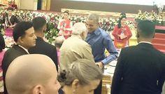 "Barack Obama meets PM Modi, calls him a ""man of action"" Read: http://www.gismaark.com/NewsExpressViews.aspx?NEID=472 #gismaark #NarendraModi #Obama"