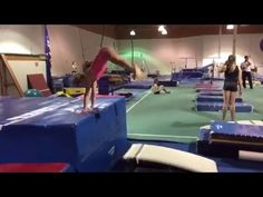 Straddle cast to handstand drill - YouTube