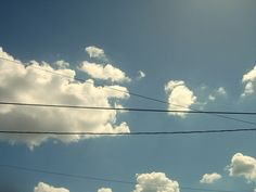 power lines and clouds