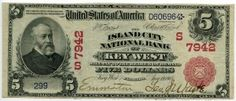 1902 $5 Key West Note Charter #7942