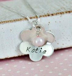 Sweet Pearls and Petals Little Girls Hand by PolkaDotBoutique, $38.00