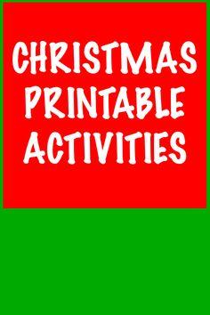Christmas Printable Activities