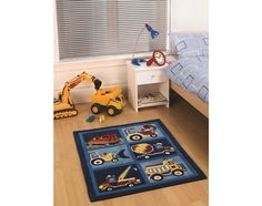 For High Quality Rugs At Great Prices The Kiddy Play Trucks Childrens Rug Boy A Price And Get Free Fast Delivery