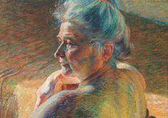 Umberto Boccioni | 1882-1916, Italy | Nudo di spalle, Controluce / Bare Shoulders, Backlit, 1909