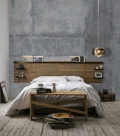 NIDRA wood and black headboard with shelves Industrial style - Bedroom inspiration - Industrial bedroom - Headboard with NIDRA wood and black shelves Industrial style - GOAL Headboard With Shelves, Black Headboard, Bedroom Furniture Sets, Bedroom Sets, Italian Style Kitchens, Industrial Style Bedroom, Kids Bed Canopy, Best Bedding Sets, Ideas Hogar
