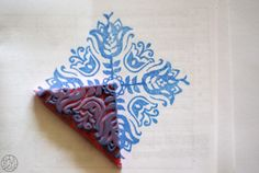 A stamp a week 9/52 - Pavage de fleurs - Dans ma petite roulotte
