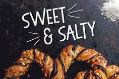 Ad: Sweet & Salty is a quirky, fun sans serif typeface with a bouncy baseline. Inspired by mid-century type, Sweet & Salty adds a vintage flavor to your designs, and it's versatile, too. Use it for packaging, logos, craft projects, posters, bold headlines, and more.