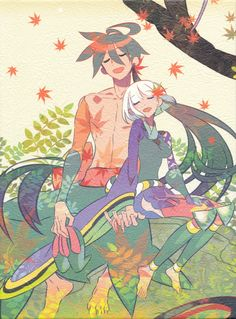 Togame and Yasuri Shichika (Katanagatari)