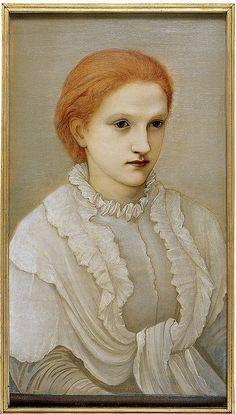 Edward Burne-Jones: Lady Frances Balfour  Burne-Jones. Oil painting. 1881