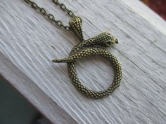 Bronze metal snake pendant for all of you snake by TbLJewelryHouse, $9.00