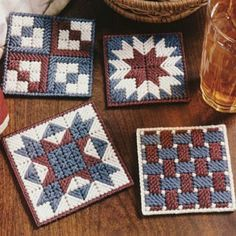 Leisure Arts - Patriotic Patchwork Coasters Plastic Canvas Patterns ePattern, $2.99 (http://www.leisurearts.com/products/patriotic-patchwork-coasters-plastic-canvas-patterns-digital-download.html)