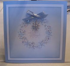 case using a Stampin' Up small snowflake stamp and a All Is Calm Snowflake Embellishment  (Apr 20, 2012)
